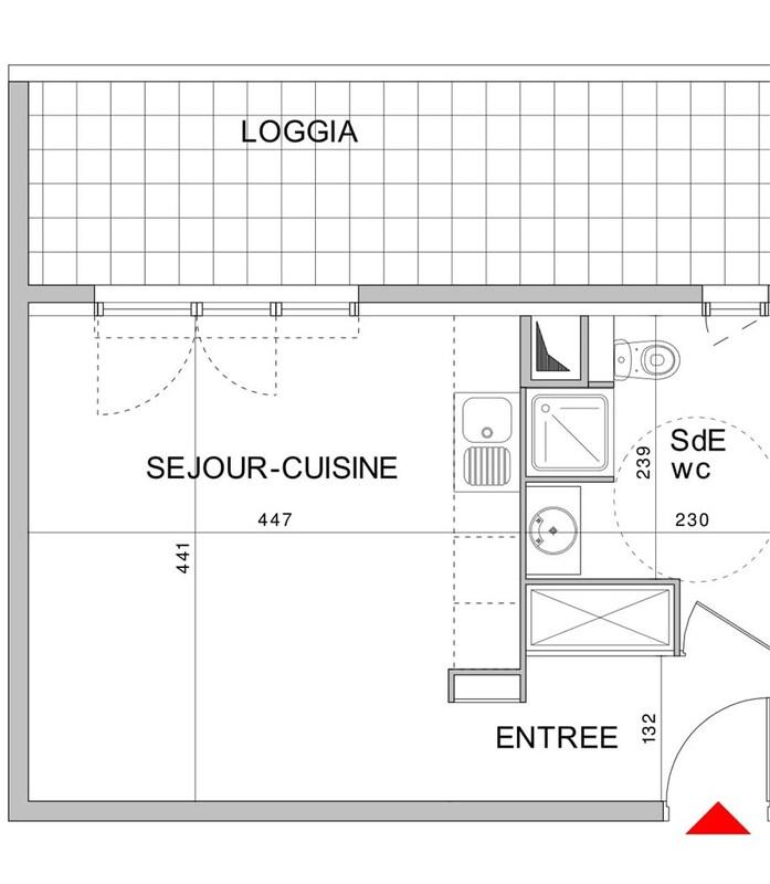 Appartement de 29  m2 - Brignoles (83170)
