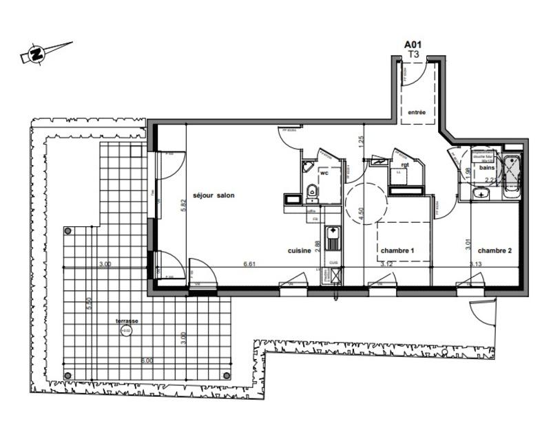 Appartement de 74  m2 - Guichen (35580)