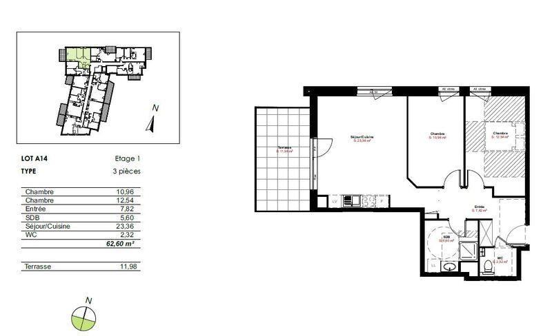 Maison de 63  m2 - Truchtersheim (67370)