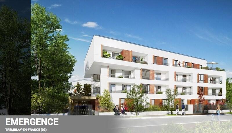 Appartement en résidence de 61  m2 - Tremblay-en-France (93290)