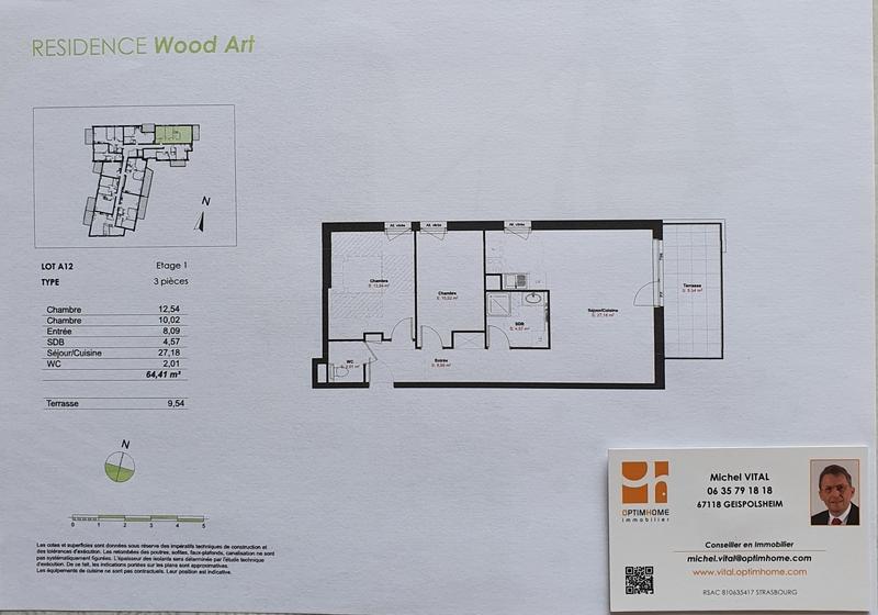 Maison de 64  m2 - Truchtersheim (67370)