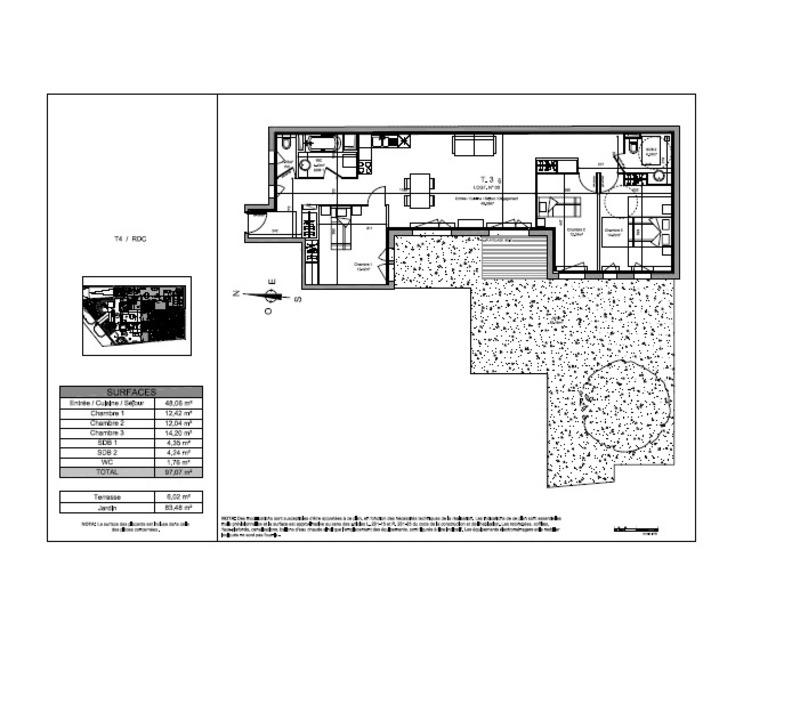 Appartement de 97  m2 - Rambouillet (78120)