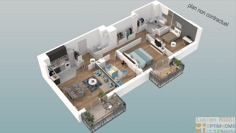 Appartement de 60  m2 - Aix-en-Provence (13100)