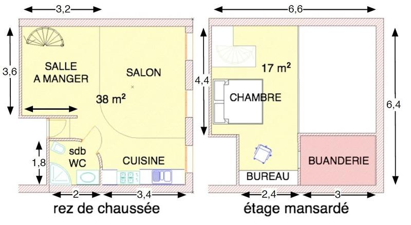 Appartement ancien de 57  m2 - Marseille (13007)