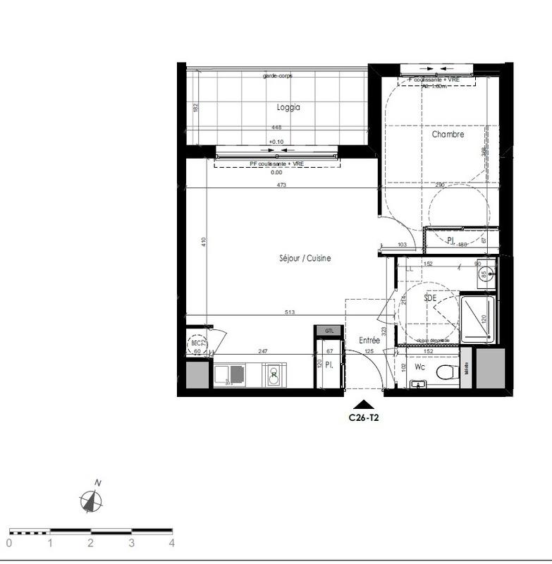 Appartement de 46  m2 - Dinard (35800)