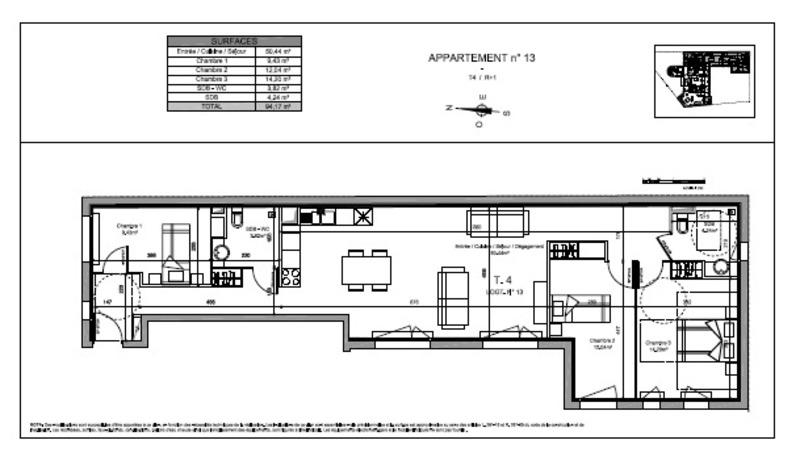 Appartement de 94  m2 - Rambouillet (78120)