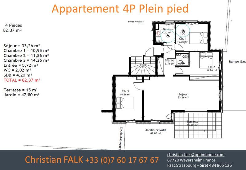 Appartement de 82  m2 - Haguenau (67500)