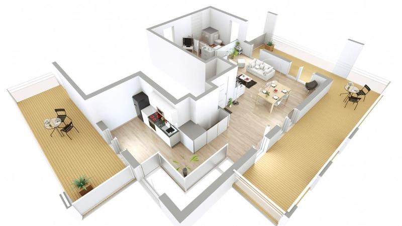 Appartement en frais réduits de 117  m2 - Lyon (69008)