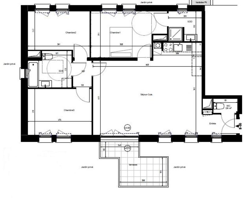 Appartement de 86  m2 - Villeneuve-d'Ascq (59650)