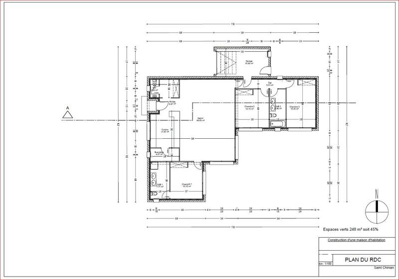 Maison contemporaine de 128  m2 - Saint-Chinian (34360)