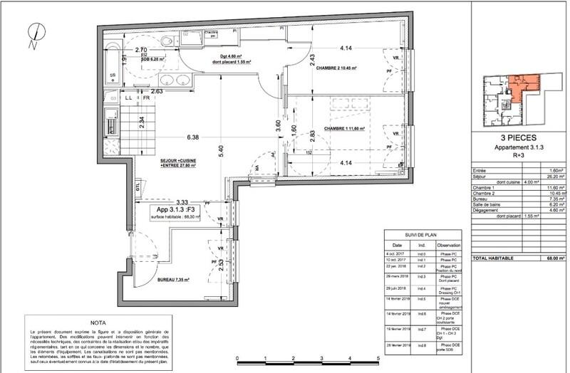 Appartement de 68  m2 - Asnières-sur-Seine (92600)
